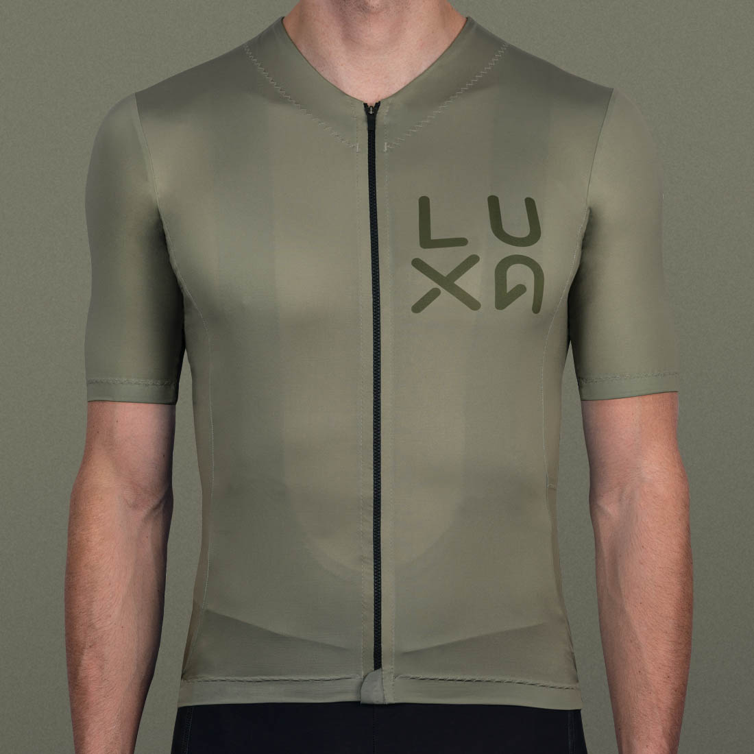 gravel men's jersey in classic khaki color like dust from gravel path