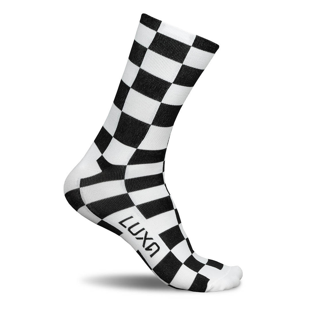 white aerodynamic socks for time trial racing