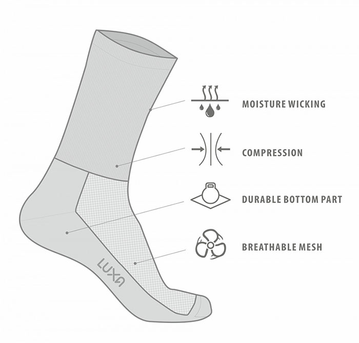 high moisture wicking cycling socks